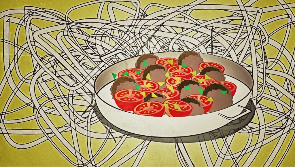 hackb llchen tomate und mozzarella aus dem ofen mit bandnudeln. Black Bedroom Furniture Sets. Home Design Ideas