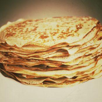 pfannenkuchen 350x350 - Pfannkuchen vom Blech - weil's einfach schneller geht