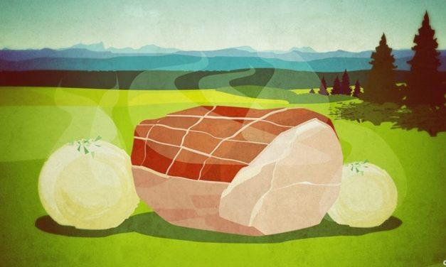 Schweinebraten mit Kruste in Biersoße