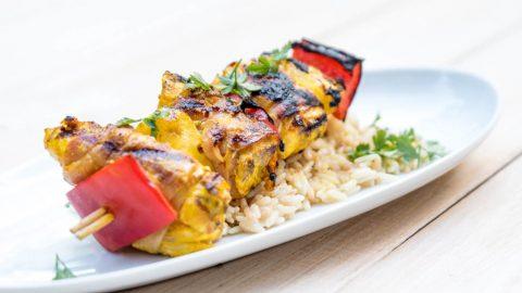 Hühnerspeiß mit Reis
