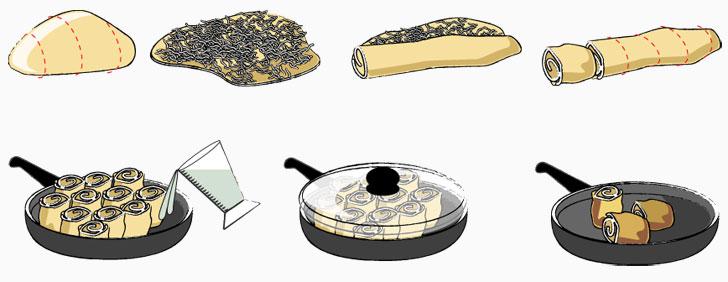 Krautkrapfen Zubereitung - Schritt für Schritt Anleitung