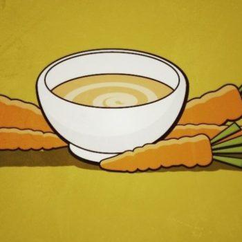 Einfache Karottensuppe
