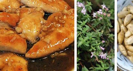 Huhn in Sherrysauce mit Salzmandeln