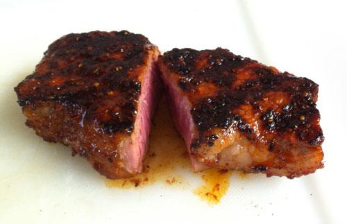 steak - Lauwarmer Bratkartoffel Salat mit grünen Bohnen