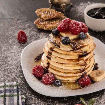 amarican pancakes 350x350 - Pfannkuchen vom Blech - weil's einfach schneller geht