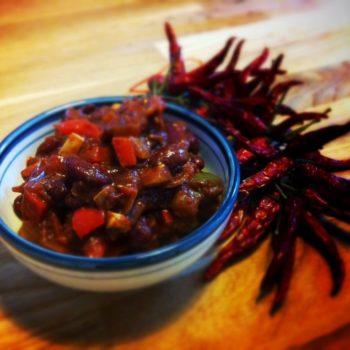 veg chili 350x350 - Gefüllte Paprika (vegetarisch)