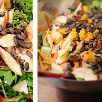 bunter fruehlings salat02 350x350 - Rotkrautsalat mit Granatapfel und Walnuss