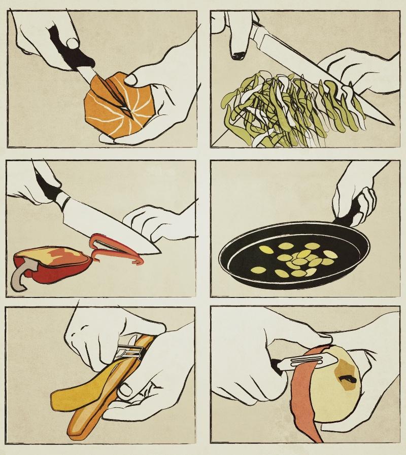 schneiden02 - Bunter Frühlings Salat