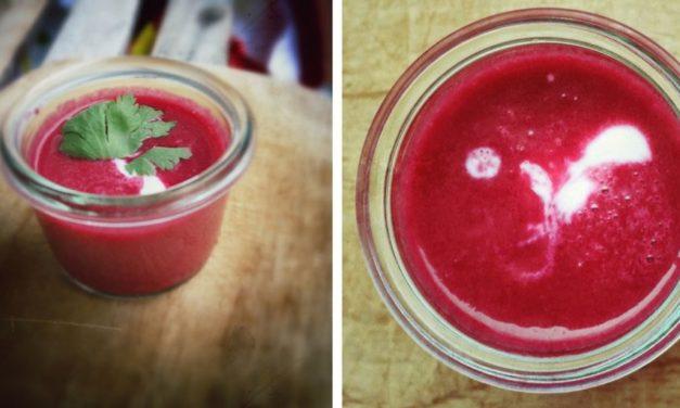 Pikante Rote-Bete Suppe