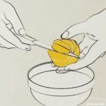 orange filetieren - Filet herausschneiden