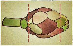 artischocke schneiden 300x187 - Baby-Artischocken