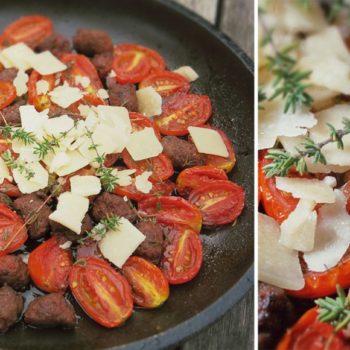 gebackene tomaten 350x350 - Pasta mit Ofentomaten