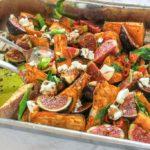 Süßkartoffeln mit frischen Feigen