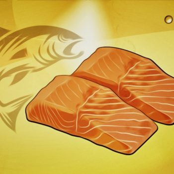 Konfierter Lachs mit süßsaurer Gojibeeren-Sauce