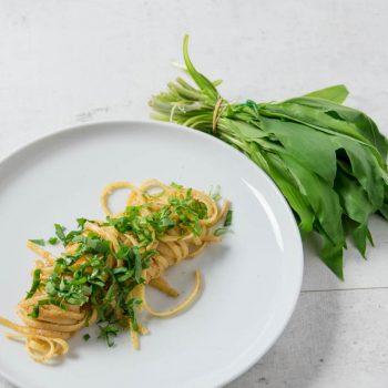 baerlauch nudeln 350x350 - Auberginen Zucchini Pasta mit Schafskäse