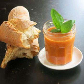 tomatensuppe aus gegrillten tomate 011 350x350 - Tomatenketchup selber machen