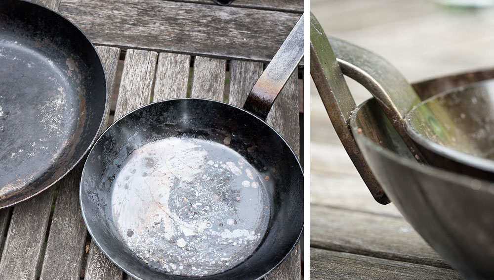 Eisenpfanne einbrennen