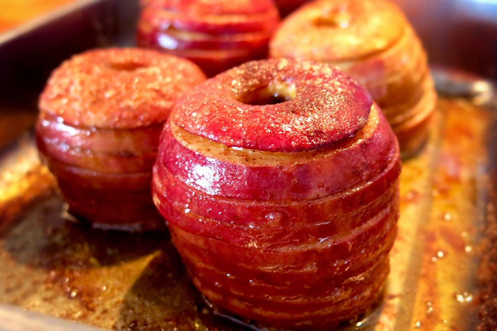 Bratapfel in Scheiben