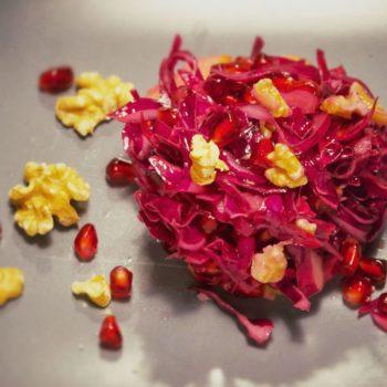 rotkrautsalat 350x350 - Bunter Frühlings Salat