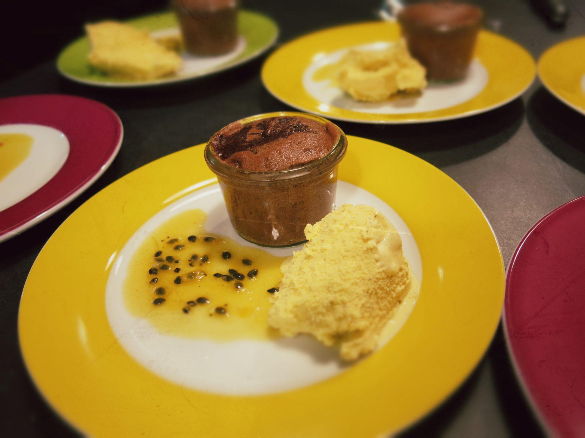 Lauwarmer Schokoladenkuchen