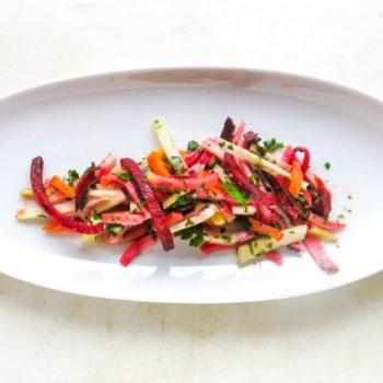 wurzelgemuese salat 01 350x350 - Bunter Frühlings Salat