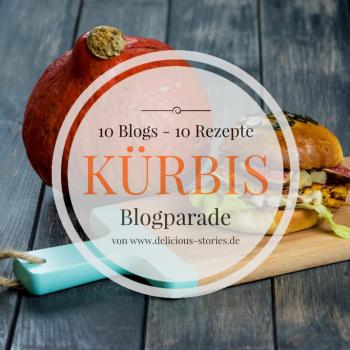 kuerbis burger blogparade 1 350x350 - Mini Burger mit Radicchio, Scamorza und Mango-Chutney