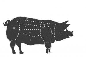 Kerntemperatur - Schweinefleisch