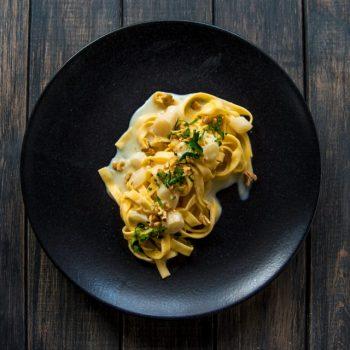 schwarzwurzel 350x350 - Spaghetti mit Schwarzwurzeln und Petersilienöl