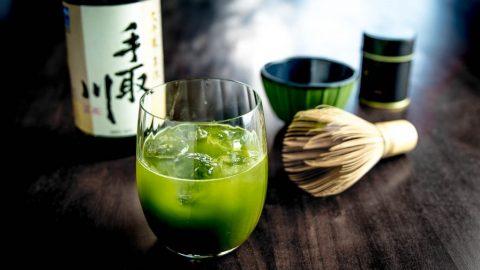 Gin Cocktail mit Sake