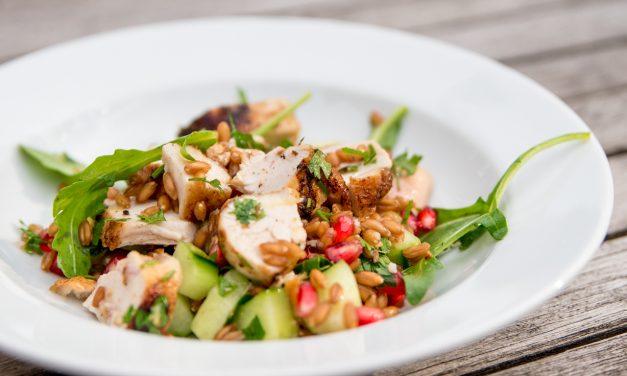 Dinkel Salat mit Huhn