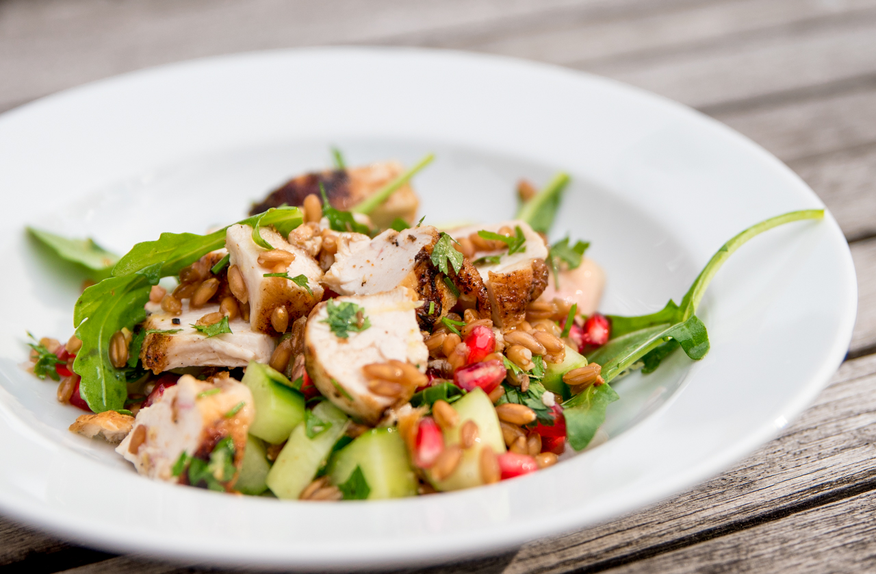 dinkel huhn salat - Dinkel Salat mit Huhn