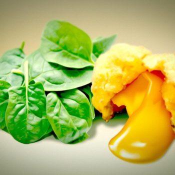 frittiertes eigelb 02 350x350 - Schinken-Bananen-Röllchen – ein Kinderessen