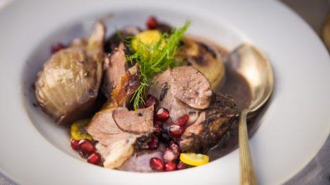 Lammeintopf mit Rotwein und Fenchel