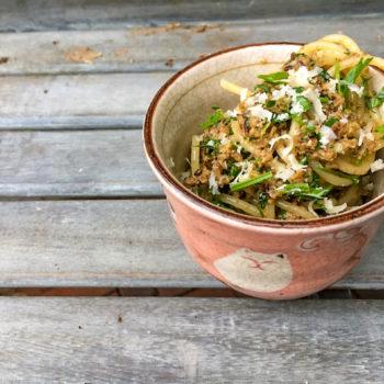 nudeln pesto steinpilze vegetarisch 350x350 - Pasta mit Erbsenpesto und Pilzen