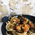 Nudeln Mangold Parmesan Broesel vegetarisch Pastamaniac 150x150 - Spaghetti mit Mangold und Parmesanbröseln