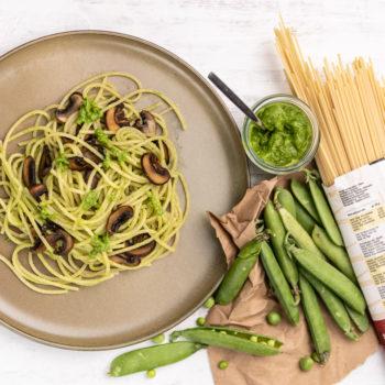 190825 erbsenpesto 6713 350x350 - Spaghetti mit Avocado-Spinat-Pesto