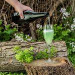 Gin Cocktail mit Waldmeister