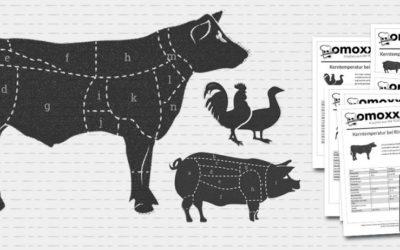 Kerntemperatur Übersicht für alle Fleischsorten